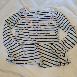 Faded Glory Striped Long Sleeve Top